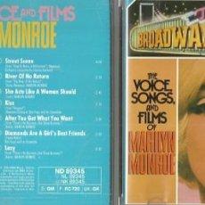 CDs de Música: MARILYN MONROE CD SELLO RCA AÑO 1989 EDITADO EN ALEMANIA. Lote 56184127
