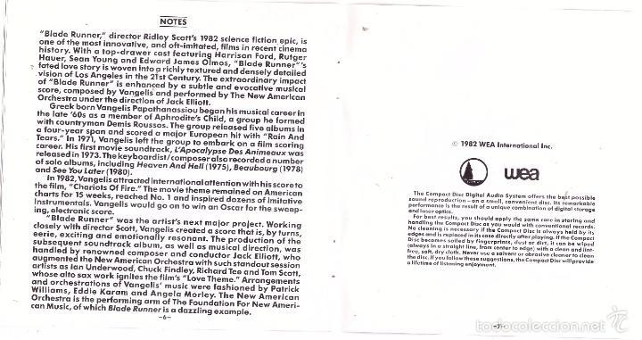 CDs de Música: CD Blade Runner (BSO) - Foto 5 - 56190760