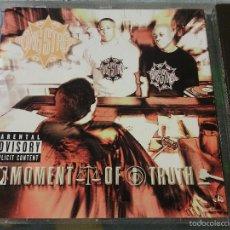CDs de Música: CD ORIGINAL GANG STARR - MOMENT OF TRUTH / RAP HIP HOP USA / 1998 / RARO!!!!! / GURU DJ PREMIER. Lote 56203755