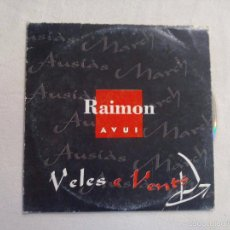 CDs de Música: CD. RAIMON-AVUI. VELES E VENTS. 2012. Lote 56205448
