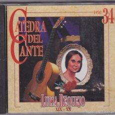 CDs de Música: LUISA REQUEJO - CATEDRA DEL CANTE / VOL 34. Lote 56260069