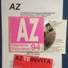 CDs de Música: VA: AZ OBJETIVOS 94, JALEO, TRADIVARIUS, ORQUESTA PLATERÍA, STUPENDAMS. CD PROMOCIONAL. Lote 56337667