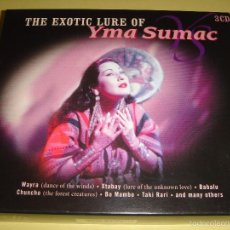 CDs de Música: YMA SUMAC / THE EXOTIC LURE OF / GREATEST HITS / GRANDES ÉXITOS / THE BEST OF / LO MEJOR DE / 3 CD. Lote 56372803
