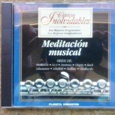 CDs de Música: MEDITACIÓN MUSICAL / BEETHOVEN, LISZL, SMELANA, CHOPIN, SCHUBERT, BRAHMS,... PLANETA DE AGOSTINI.. Lote 56373635