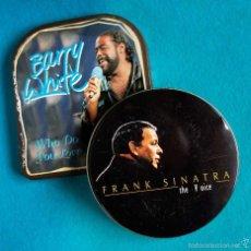 CDs de Música: 2 CD BARRY WHITE - SINATRA. EDICIÓNES COLECCIONISTA. CAJAS METÁLICAS. Lote 78606391