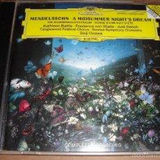 CDs de Música: FELIX MENDELSSOHN / A MIDSUMMER NIGHT´S DREAM / EL SUEÑO DE UNA NOCHE DE VERANO / CD. Lote 56460171