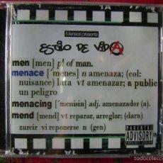 CDs de Música: MENACE.ESTILO DE VIDA...HIP-HOP ...ARAGON. Lote 56485125