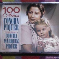 CDs de Música: CONCHA PIQUER CANTA JUNTO A CONCHA MARQUEZ PIQUER (100 AÑOS) 2 CD'S + DVD 2006. Lote 56499886
