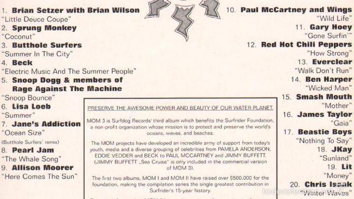 CDs de Música: MUSICA GOYO - CD ALBUM - MOM - MUSIC FOR OUR MOTHER OCEAN *CC99 - Foto 2 - 23093963