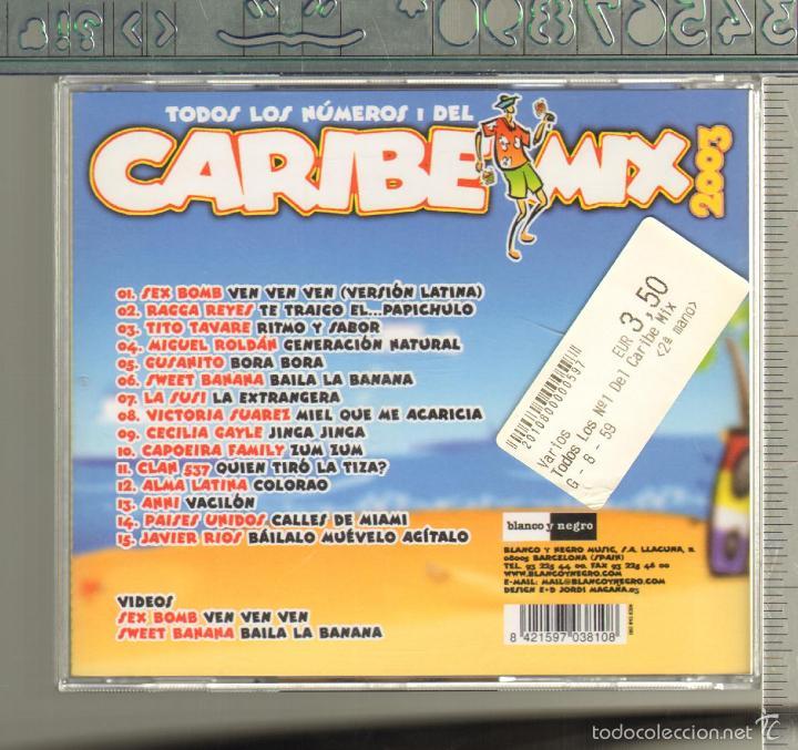 CDs de Música: MUSICA GOYO - CD ALBUM - CARIBE MIX 2003 - EL MAS RARO Y BUSCADO - *UU99 - Foto 3 - 56550946
