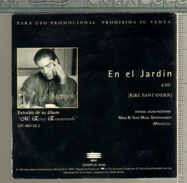 MUSICA GOYO - CD SINGLE - ALEJANDRO FERNANDEZ Y GLORIA ESTEFAN - EN EL  JARDIN - *XX99