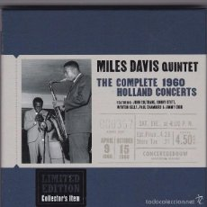 CDs de Música: MILES DAVIS QUINTET - THE COMPLETE 1960 HOLLAND CONCERTS - 3CDS BOX SET COMPILATION. Lote 56606145