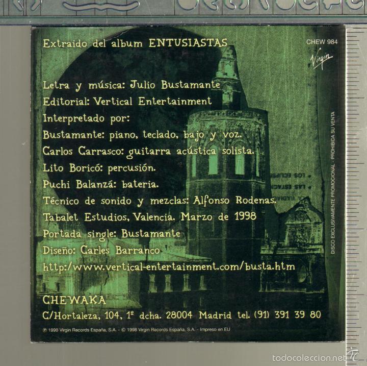CDs de Música: MUSICA GOYO - CD SINGLE - BUSTAMANTE - SUR DEL CORAZON - LXV99 - Foto 2 - 21740670