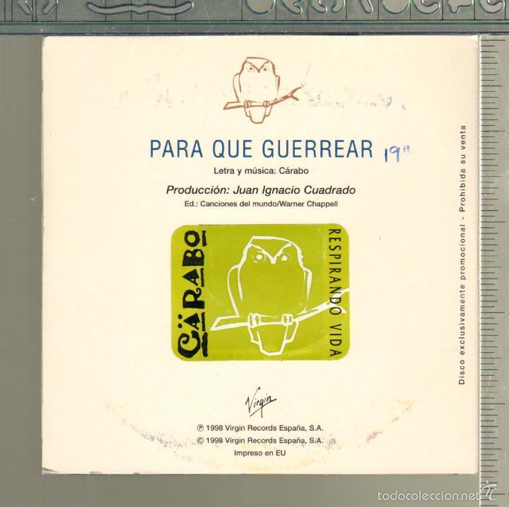 CDs de Música: MUSICA GOYO - CD SINGLE - CARABO - PARA QUE GUERREAR - *II99 - Foto 2 - 21740871