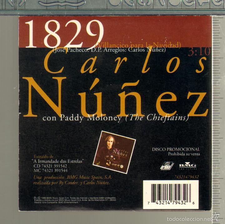 CDs de Música: MUSICA GOYO - CD SINGLE - CARLOS NUÑEZ - 1829 - *HH99 - Foto 2 - 21741017