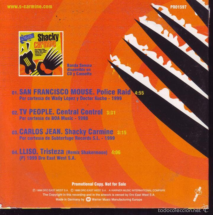 SHACKY CARMINE ... CDS PROMOCIONAL ... CDS (Música - CD's Otros Estilos)