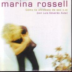 CDs de Música: COMO TE OLVIDASTE DE ESO -- MARINA ROSSELL .. CDS PROMOCIONAL. Lote 56701106