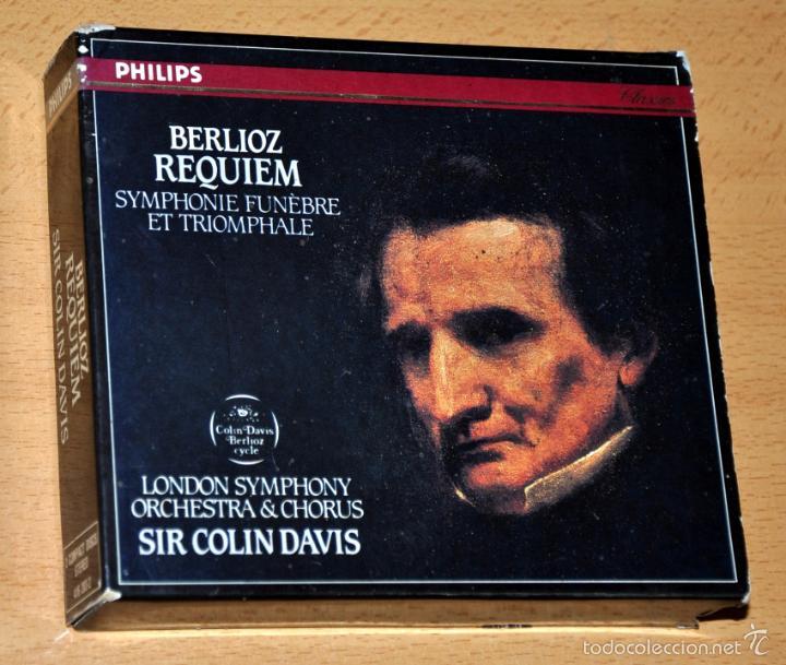 ESTUCHE 2 CD + LIBRETO: BERLIOZ - REQUIEM, SINFONÍA FÚNEBRE - DIRIGE: SIR COLIN DAVIS - PHILIPS 1970 (Música - CD's Clásica, Ópera, Zarzuela y Marchas)