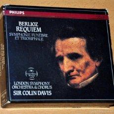 CDs de Música: ESTUCHE 2 CD + LIBRETO: BERLIOZ - REQUIEM, SINFONÍA FÚNEBRE - DIRIGE: SIR COLIN DAVIS - PHILIPS 1970. Lote 56715270