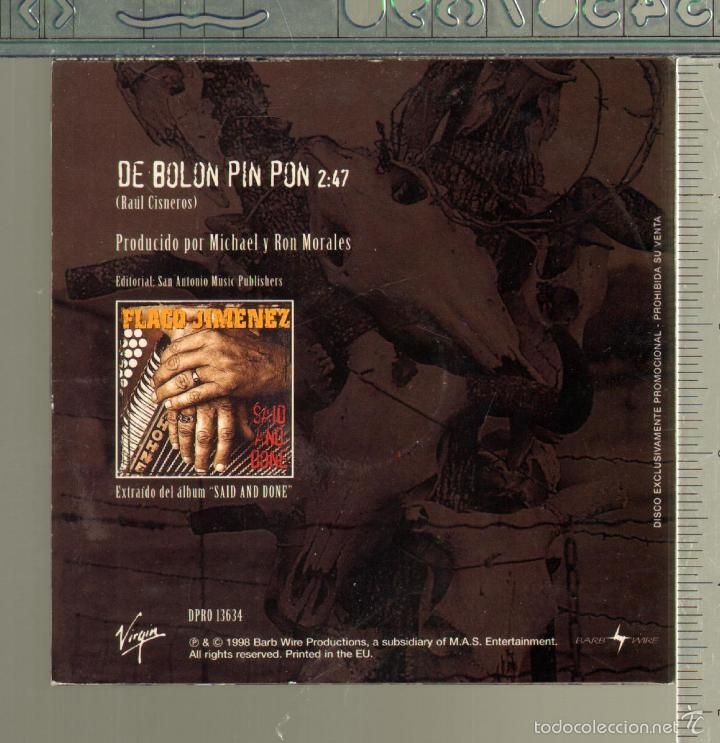 CDs de Música: MUSICA GOYO - CD SINGLE - FLACO JIMENEZ - DE BOLON PIN PON - *GG99 - Foto 2 - 21742626