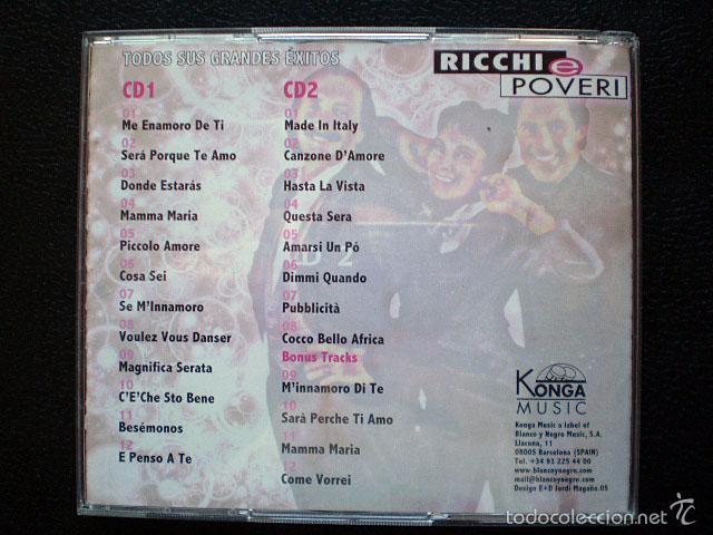 CDs de Música: CD Ricchi e Poveri: Todos sus grandes éxitos (2 CDs) Como nuevos - Foto 2 - 56731077
