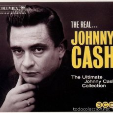 CDs de Musique: JOHNNY CASH - THE REAL JOHNNY CASH (THE ULTIMATE JOHNNY CASH COLLECTION - 3 CD ). Lote 56732643