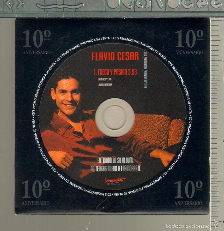MUSICA GOYO - CD SINGLE - FLAVIO CESAR - FUEGO Y PASION - *UU99 (Música - CD's Melódica )