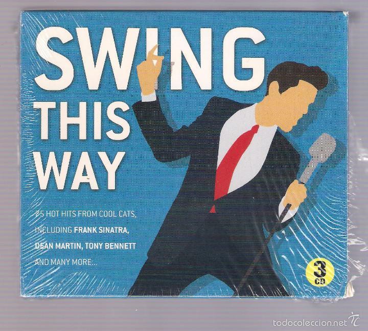 VARIOS: SINATRA, DEAN MARTIN, TONY BENNETT... - SWING THIS WAY (3 CD 2013, MCPS G03CD7322) (Música - CD's Jazz, Blues, Soul y Gospel)