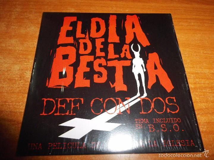 DEF CON DOS EL DIA DE LA BESTIA BANDA SONORA CD SINGLE PROMO CARTON 2005 1 TEMA (Música - CD's Rock)