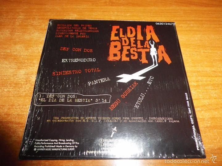 CDs de Música: DEF CON DOS El dia de la bestia BANDA SONORA CD SINGLE PROMO CARTON 2005 1 TEMA - Foto 2 - 56813160