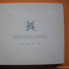 CDs de Música: HEROES DEL SILENCIO (CD) CANCIONES 84 - 96 AÑO 2000 - DOBLE CD - CAJA DE CARTON DESPLEGABLE PEPETO. Lote 56832254