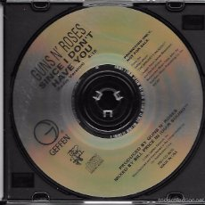 CDs de Musique: GUNS N´ ROSES: SINCE I DON´T HAVE YOU (RADIO VERSION). RARO CD SINGLE PROMOCIONAL. Lote 56836756