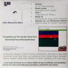 CDs de Música: SIDONIE VS. LE HAMMOND INFERNÓ GARDEN PARTY DJ'S CD ES BIEN RECORDS ZERO 7 ROBIN JONES. Lote 56905961