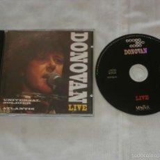 CDs de Música: DONOVAN CD LIVE IN 1984 AT MADISON SQUARE GARDEN -N.Y.- CONCIERTO - COMO NUEVO. Lote 56922569