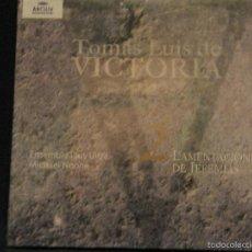 CDs de Música: CD TOMÁS LUIS DE VICTORIA ENSEMBLE PLUS ULTRA 2 LAMENTACIONES JEREMIAS ARCHIV PRODUKTION. Lote 56927068