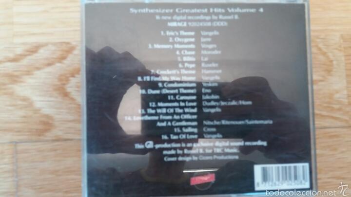 CDs de Música: SYNTHESIZER GREATEST HITS VOL.4 - Foto 3 - 56939513