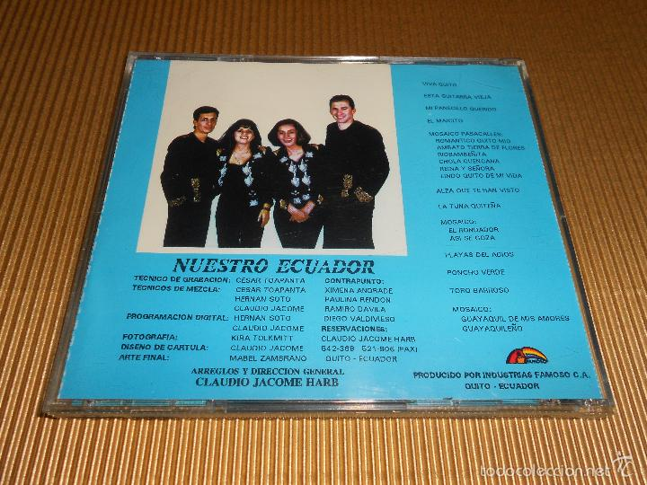 CDs de Música: CONTRAPUNTO ( NUESTRO ECUADOR ) - CD - VIVA QUITO - LA TUNA QUITEÑA - TORO BARROSO ...- CONTRA PUNTO - Foto 3 - 56941409