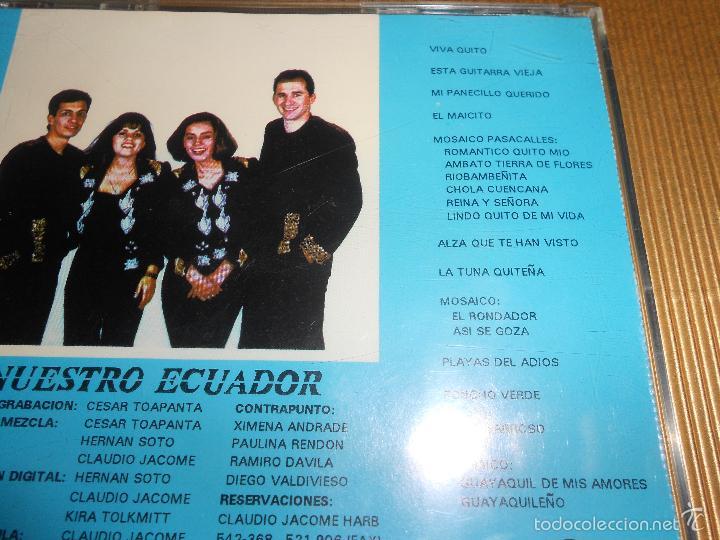 CDs de Música: CONTRAPUNTO ( NUESTRO ECUADOR ) - CD - VIVA QUITO - LA TUNA QUITEÑA - TORO BARROSO ...- CONTRA PUNTO - Foto 4 - 56941409