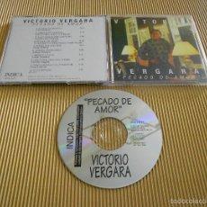 CDs de Música: VICTORIO VERGARA ( PECADO DE AMOR ) - CD - SONY MUSIC - SANGRA MI CORAZON - ESTA NAVIDAD .... Lote 56941641