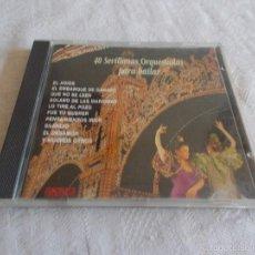 CDs de Música: 40 SEVILLANAS ORQUESTADAS PARA BAILAR. Lote 56951509