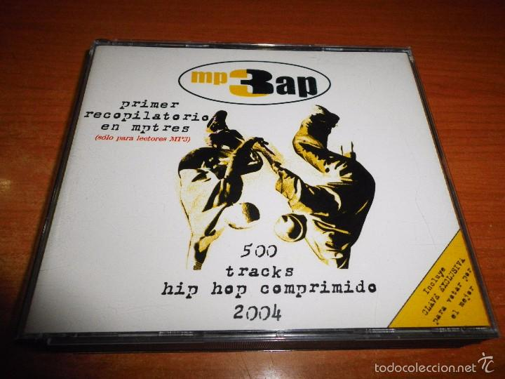 MP3 AP CD TRIPLE SOLO PARA LECTORES DE MP3 500 TRACKS HIP HOP COMPRIMIDO 2004 38 ARTISTAS VIDEOS RAP (Música - CD's Hip hop)