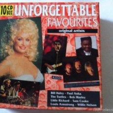 CDs de Música: CD- UNFORGETTABLE FAVOURITES - 10 CD.1993 (HOLLAND). Lote 57118384