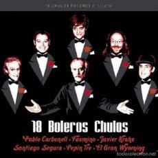 CDs de Música: 18 BOLEROS CHULOS * CD * LTD DIGIPACK * JAVIER KRAHE / P. C ARBONELL / SANTIAGO SEGURA / GRAN WYOMIN. Lote 269985278