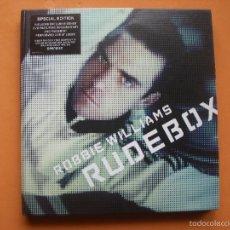 CDs de Música: ROBBIE WILLIAMS - RUDE BOX SPECIAL EDITION CD +DVD PACK CON TEXTURA PEPETO. Lote 57161398