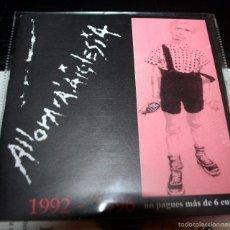 CDs de Música: ALLORARALAIGLESIA 1992-1996.CD PUNK HARDCORE SPAIN. Lote 57189997