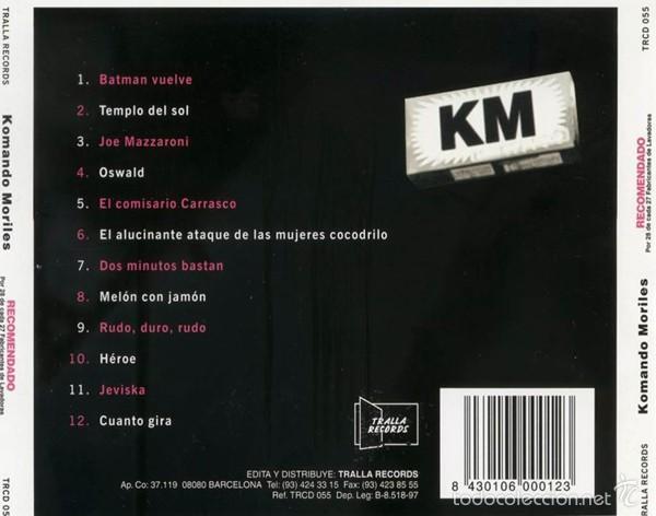 CDs de Música: KOMANDO MORILES RECOMENDADO POR 28 DE CADA 27...CD SKA - Foto 2 - 57192946