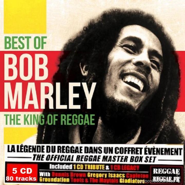 BOB MARLEY * THE KING OF REGGAE * 5CD BOX DIGIPACK * BEST OF * CAJA PRECINTADA (Música - CD's Reggae)
