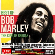 CDs de Música: BOB MARLEY * THE KING OF REGGAE * 5CD BOX DIGIPACK * BEST OF * CAJA PRECINTADA. Lote 57222941
