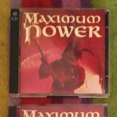 CDs de Música: (MAXIMUM POWER - VOL. 1 Y 2) 4 CD'S 1996 - ZZ TOP - RAINBOW - STATUS QUO - EUROPE - JUDAS PRIEST..... Lote 57232382