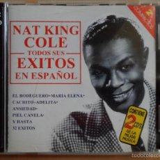 CDs de Música: AA - NAT KING COLE TODOS SUS ÉXITOS EN ESPAÑOL DOBLE CD AÑO 1998. Lote 57237129